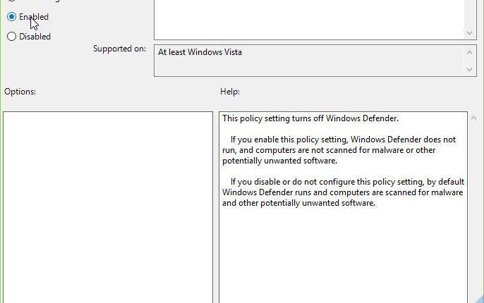 Tắt Windows Defender Windows 10