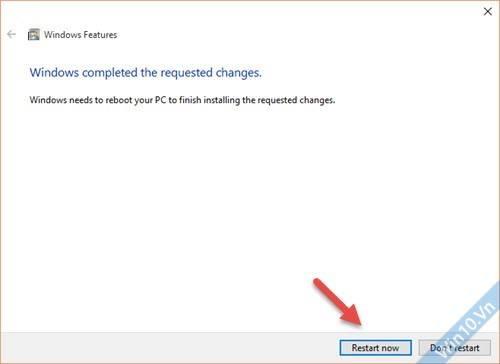 Kích hoạt .Net Framework 3.5 trên Windows 10