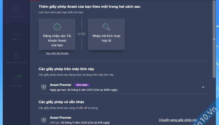 Avast Premier 2019 + License Key bản quyền đến 2027