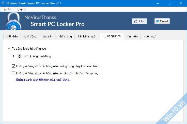 Smart PC Locker Pro 2.7 - Phần mềm khóa màn hình máy tính