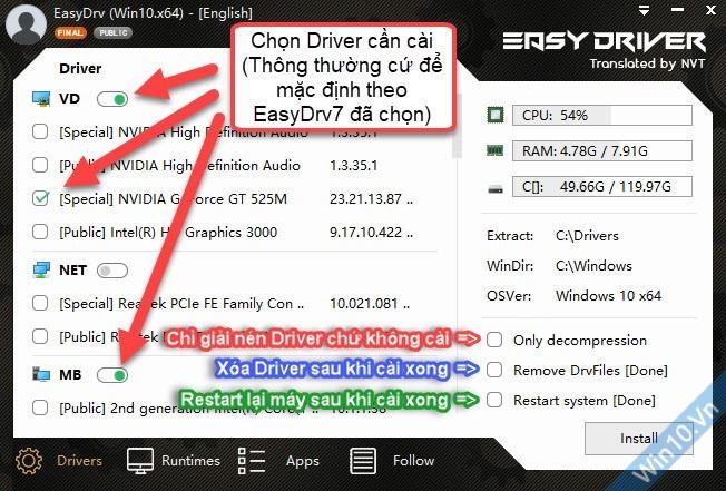Hướng dẫn dùng EasyDrv7