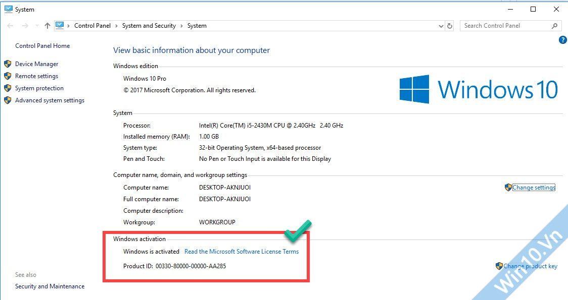 Active Windows 10 bản quyền kỹ thuật số vĩnh viễn