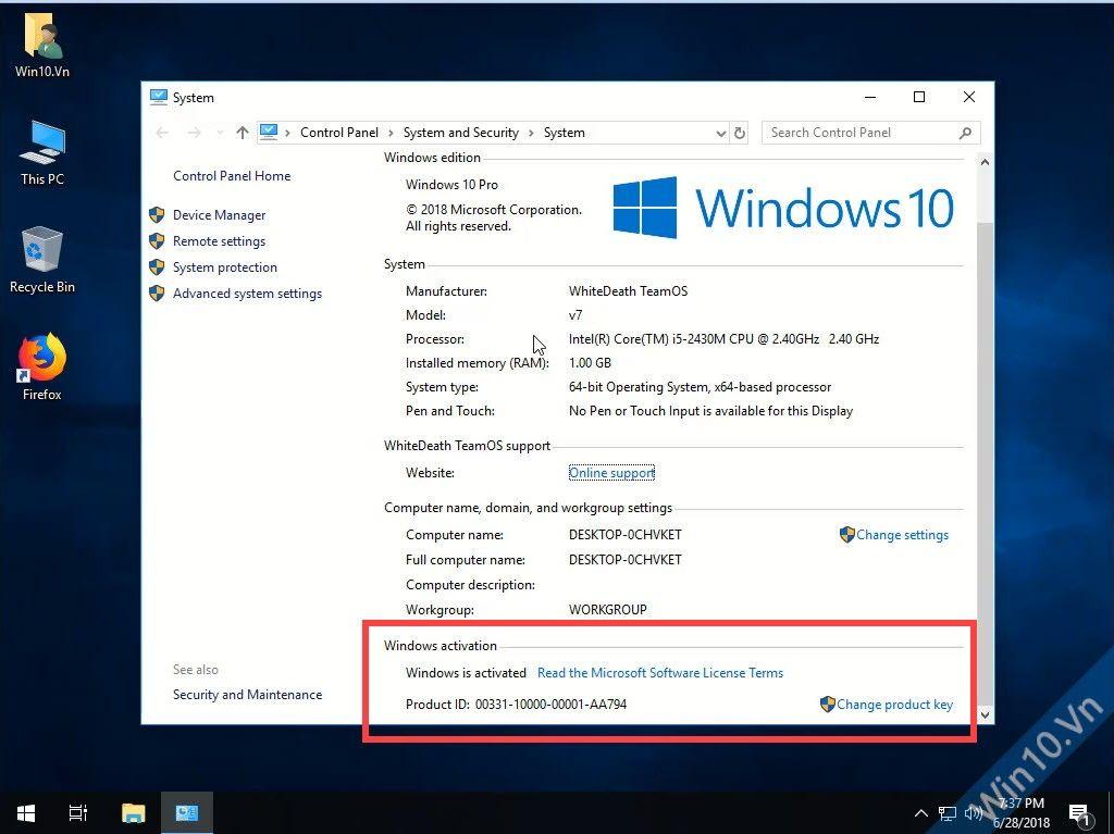 Windows 10 Pro Lite x64 preactivated