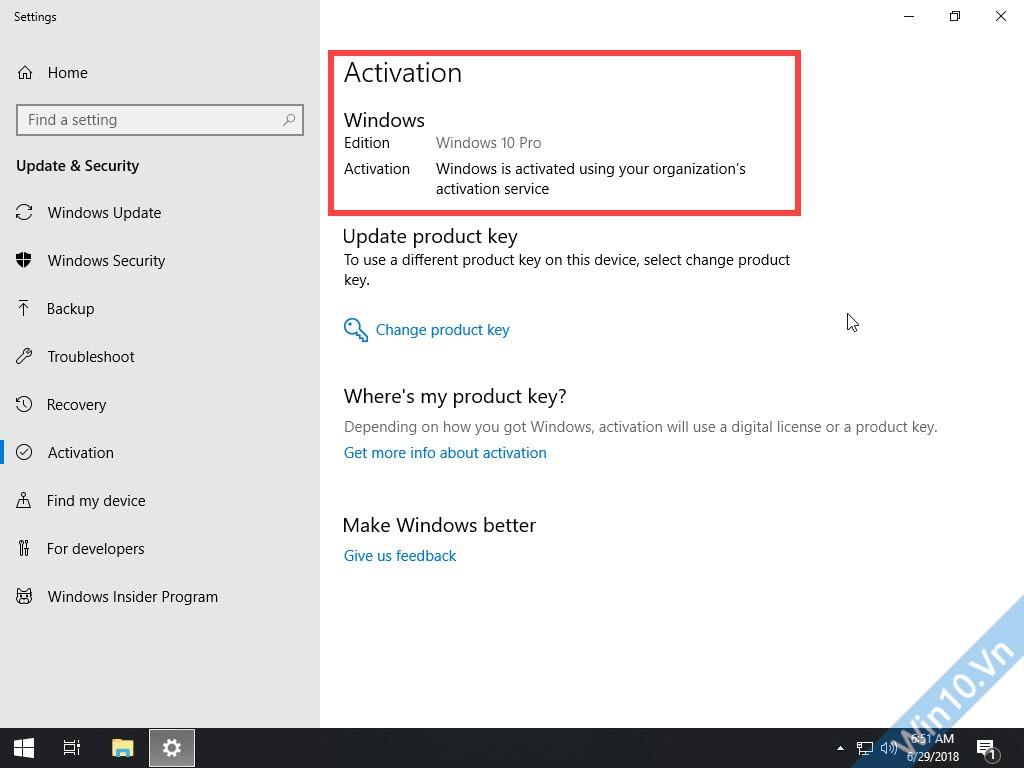 Windows 10 Pro Lite x64 active