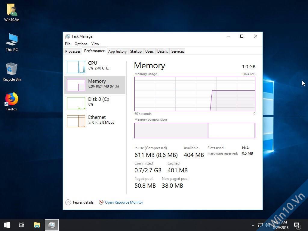 Windows 10 Pro Lite Preactivated Performance