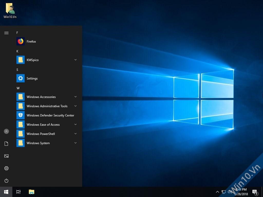 Windows 10 Pro Lite x64 Preactivated Start Menu