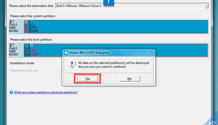 Hướng dẫn cài Win từ ổ cứng bằng WinToHDD