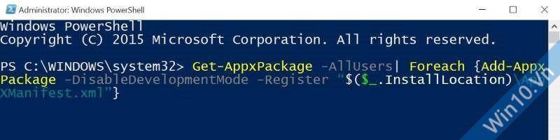 Cách sửa lỗi không tìm thấy Windows Store, cài lại Windows 10 Store