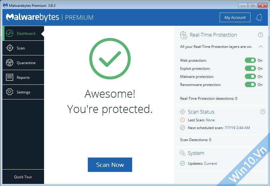 Malwarebytes Premium 3.8.3