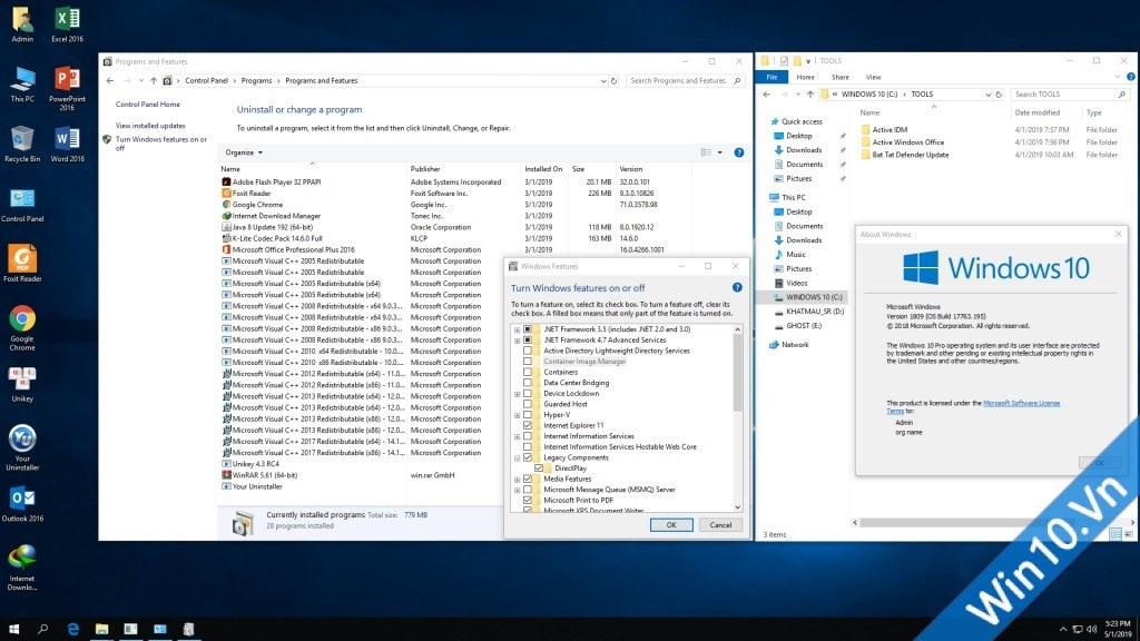 Ghost Windows 10 1809 64bit Fullsoft