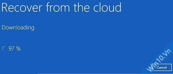 Đang tiến hành Recover form the cloud