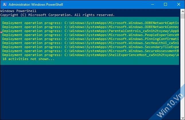 Cài lại ứng dụng mặc định Windows 10