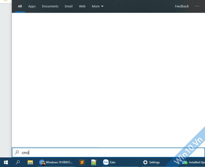 Lỗi tìm kiếm Windows 10