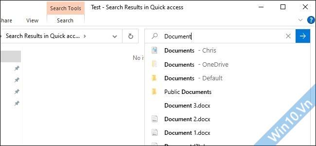 Live Search Windows 10