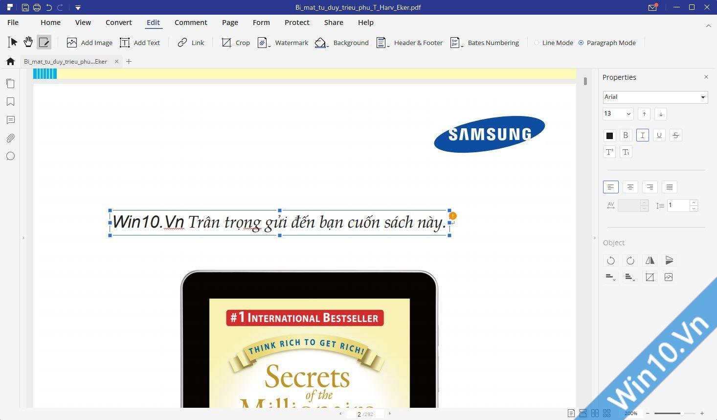 chỉnh sửa file pdf