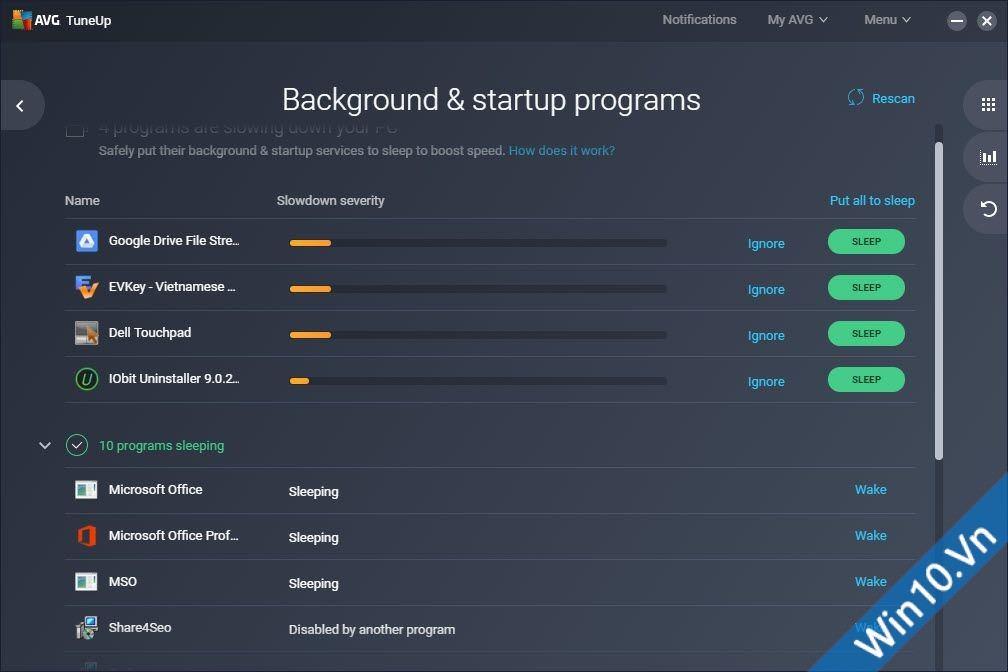 Backround & startup programs