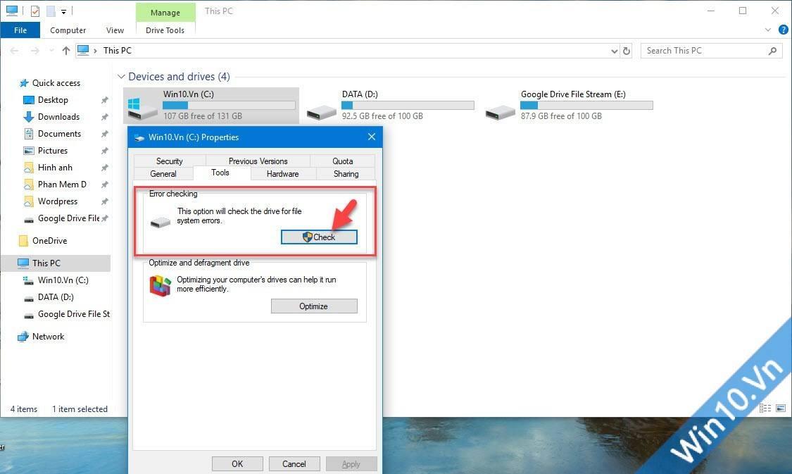 Error Checking Disk