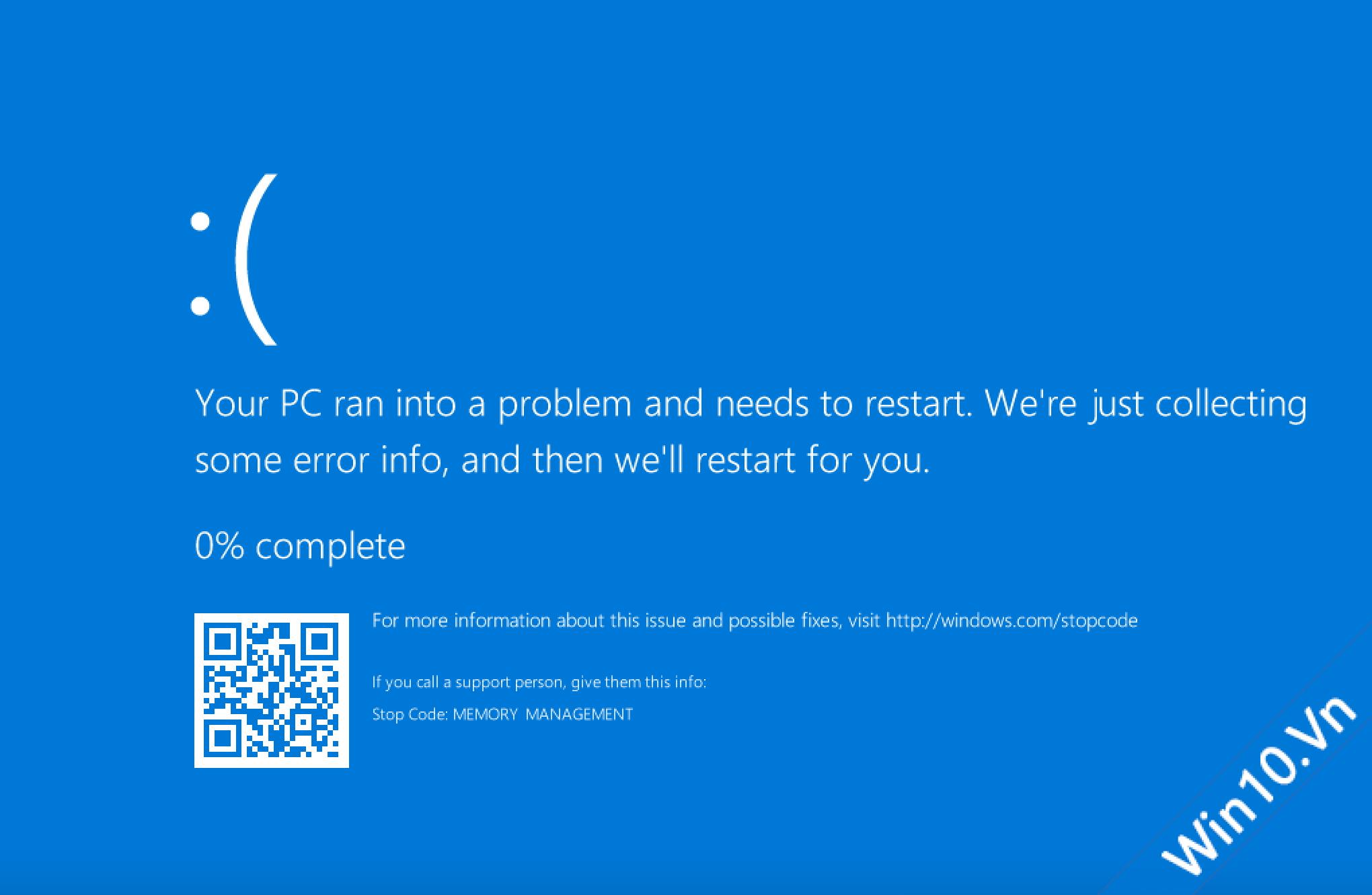 Lỗi màn hình xanh khi cài VMware
