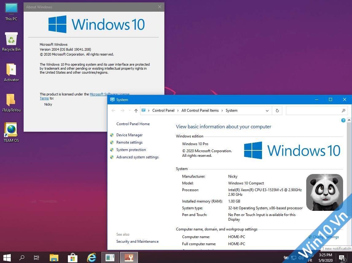 Windows 10 2004 (20H1) Compact & Lite 32bit